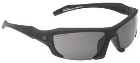 5.11 Tactical Burner Half Frame Sunglasses (Three Polarized Lens), Black, hi-res