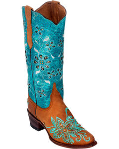 Ferrini Tan Star Power Cowgirl Boots - Pointed Toe, , hi-res