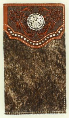Ariat Calf Hair Concho Rodeo Wallet, , hi-res