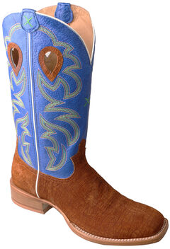 Twisted X Royal Blue Ruff Stock Cowboy Boots - Square Toe , , hi-res