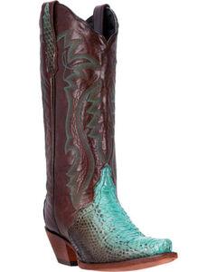 Dan Post Charmer Python Cowgirl Boots - Snip Toe, , hi-res