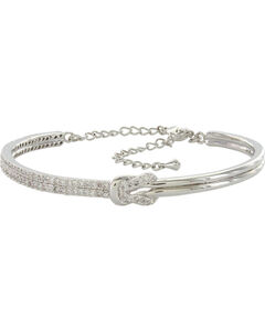 Montana Silversmiths Shimmering Knot Bangle, , hi-res
