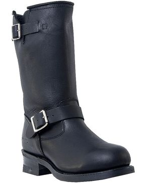 Dingo Rob Harness Boots - Round Toe, Black, hi-res