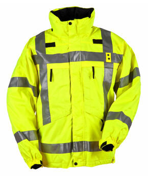 5.11 Tactical Men's Reversible High-Visibility Parka, Yellow, hi-res