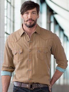 Ryan Michael Men's Beacon Blanket Silk Jacquard Shirt, , hi-res