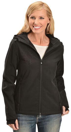 Outback Trading Co. Softshell Water Resistant Jacket, Black, hi-res