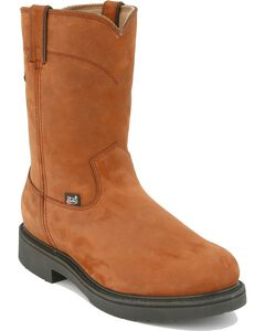 Justin Pull-On Waterproof Work Boots - Round Toe, , hi-res