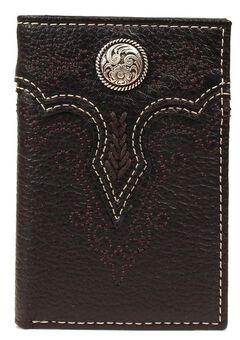 Ariat Fancy Concho Tri-fold Wallet, , hi-res