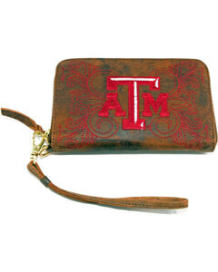 Gameday Boots Texas A&M University Leather Wristlet, , hi-res