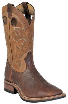Boulet Shoulder Old Town Organza Brown Cowboy Boots - Square Toe, , hi-res