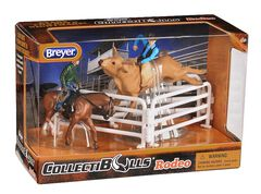 CollectiBulls Rodeo Toy Set, Brown, hi-res