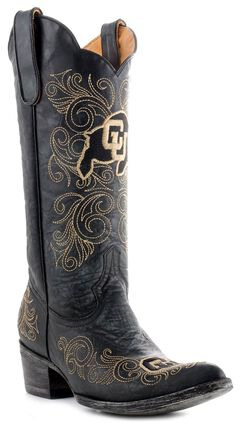 Gameday University of Colorado Cowgirl Boots - Pointed Toe, , hi-res