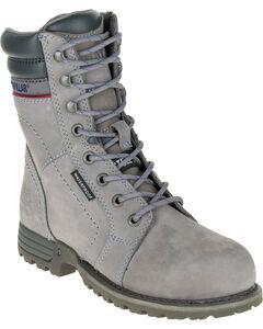 Caterpillar Women's Grey Echo Waterproof Work Boots - Steel Toe, , hi-res