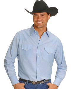 Ely Solid Oxford Western Shirt - Big, Tall, Big/Tall, , hi-res