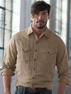 Ryan Michael Men's Split Rail Silk Shirt, , hi-res