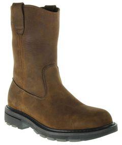 Wolverine Nubuck Wellington Pull-On Work Boots - Steel Toe, , hi-res