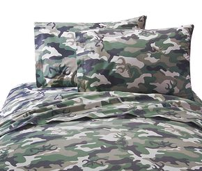 Browning Buckcamo Green Queen Sheet Set, Camouflage, hi-res