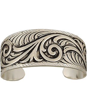 Montana Silversmiths Antiqued Wide Scroll Bracelet, Antique Silver, hi-res