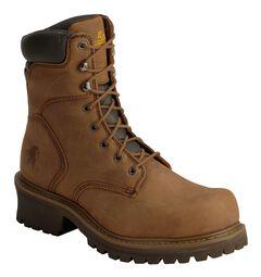 """Chippewa IQ Tough Oblique 8"""" Logger Boots - Steel Toe, , hi-res"""