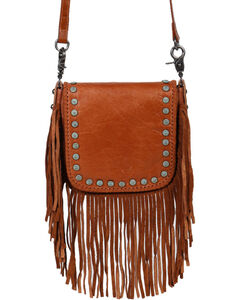 Shyanne Women's Fringe Crossbody Bag, Brown, hi-res