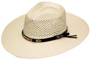 Twister Indiana Comfort Sweat Shield Straw Cowboy Hat, Natural, hi-res