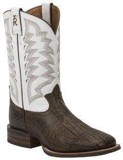 Tony Lama Men's Wax Uvalde 3R Stockman Cowboy Boots - Square Toe , , hi-res