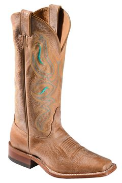 Nocona Honey Cowhide Cowgirl Boots - Square Toe, , hi-res