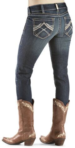 Ariat Women's R.E.A.L. Skinny Whipstitch Ocean Jeans, , hi-res