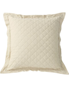 HiEnd Accents Diamond Pattern Quilted Cream Euro Sham, , hi-res