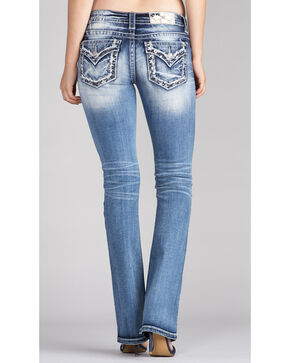 Miss Me Women's Star Embroidery Slim Jeans - Boot Cut , Indigo, hi-res