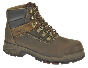 "Wolverine Cabor 6"" Waterproof Work Boots - Composition Toe, Coffee, hi-res"