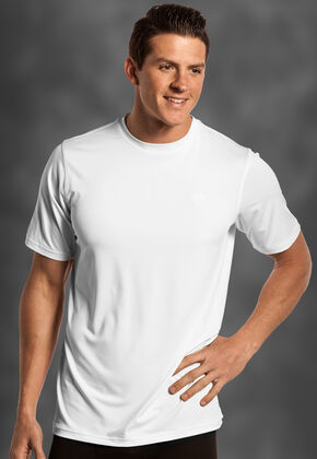 Rock and Roll Cowboy Men's White Crew Neck T-Shirt , White, hi-res