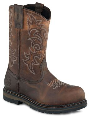 Red Wing Irish Setter Ramsey Pull-On Work Boots - Steel Toe, Brown, hi-res
