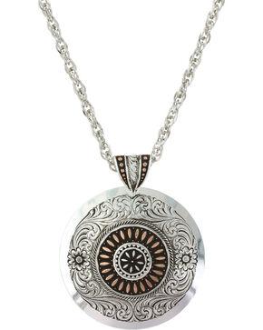 Montana Silversmiths Women's Prairie Fire Concho Necklace , Silver, hi-res
