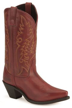 Laredo High Heel Red Cowgirl Boots - Snip Toe, , hi-res