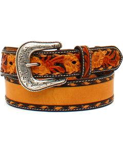 Nocona Men's Tapered Floral Name Belt , , hi-res