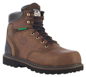 Georgia Brookville Waterproof  Work Boots - Steel Toe, Dark Brown, hi-res