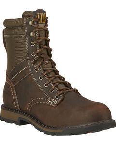 """Ariat Men's 8"""" Groundbreaker Waterproof Work Boots - Steel Toe, , hi-res"""