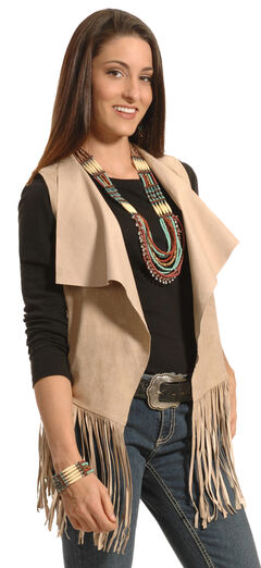 White Crow Women's Moccasin Crying Wolf Fringe Vest, , hi-res