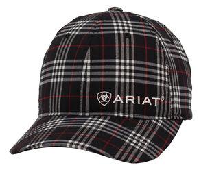 Ariat Navy Plaid Cap, Navy, hi-res