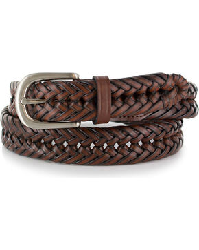 American Worker Braided Leather Belt, Chestnut, hi-res