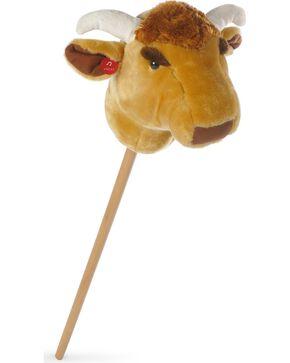Talking Toy Stick Bull, Brown, hi-res