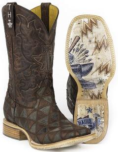 Tin Haul Men's Triangles Cowboy Boots - Square Toe, , hi-res