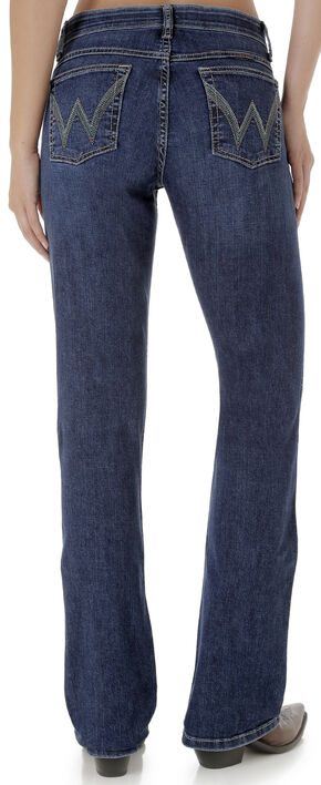Wrangler Women's Q-Baby Mid Rise Ultimate Riding Jeans , Indigo, hi-res