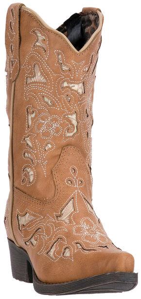 Laredo Girls' Tan Sharona Boots - Snip Toe , Tan, hi-res