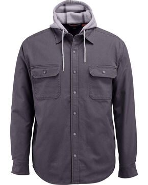 Wolverine Men's Overman Shirt Jacket, Charcoal, hi-res