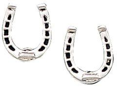 Montana Silversmiths Horseshoe Post Earrings, , hi-res