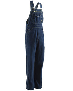 Berne Dark Stonewash Original Unlined Washed Denim Bib Overalls - Big (44 - 54), , hi-res
