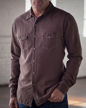Ryan Michael Men's Chocolate Birdseye Texture Shirt, Chocolate, hi-res