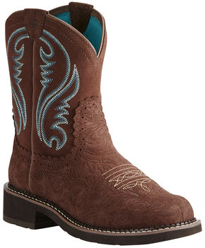 Ariat Women's Brown Fatbaby Heritage Boots - Round Toe, Brown, hi-res